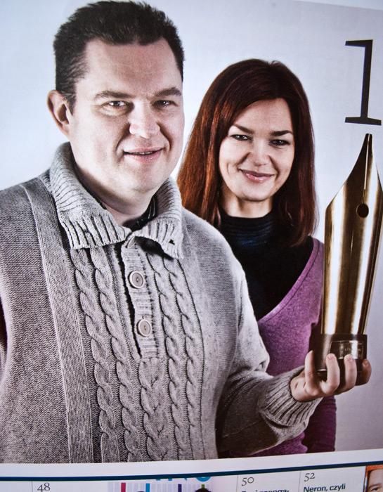 """Андрэй і Аксана Пачобут. Здымак з часопіса """"Press"""""""