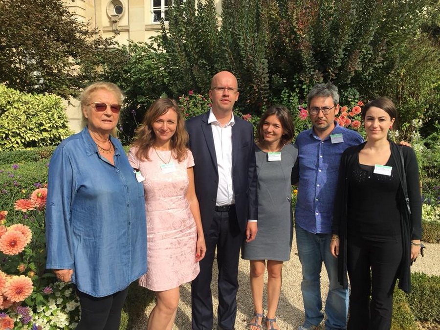 Larysa Shchyrakova and Volha Chaychyts met with the French deputy Christophe Lejeune, and with Dominique Pradalié, a representative of the French trade union of journalists SNJ, Hakima Bounemoura from CFDT, and Pablo Aiquel from SNJ-CGT.