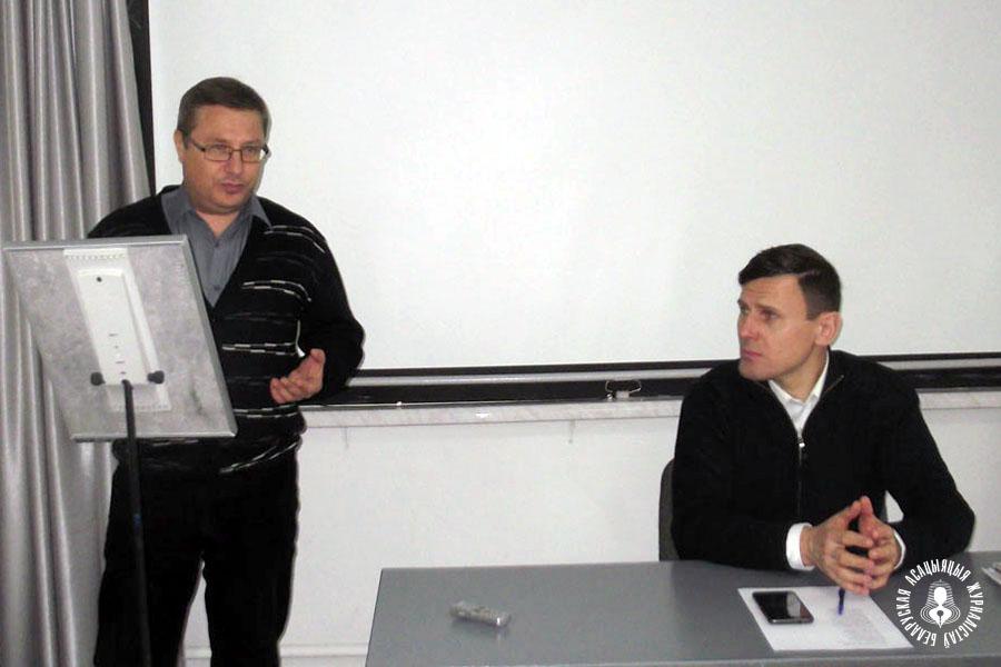 Уладзімір Лапцэвіч і Аляксандр Буракоў