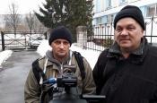 Журналісты-фрылансеры Кастусь Жукоўскі і Андрэй Толчын