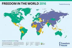 Freedom House: Беларусь — у дзясятцы найгоршых краін па свабодзе слова