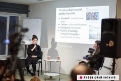 Рэдактар «The Guardian» па працы з сацыяльнымі сеткамі Мэйв Шэрлаў на сустрэчы ў Мінску