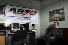 Юрый Базан у рэдакцыі «Аўтарадыё». Фота Photo.bymedia.net