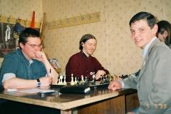 Шахматны турнір: Андрэй Пачобут, Ігар Банцар, Алесь Зарэмбюк, 1999 г.