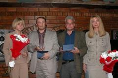 Лаурэаты прэміі Завадскага-2004: (злева направа): Марына Коктыш, Алесь Ліпай, Леанід Міндлін, Ірына Халіп