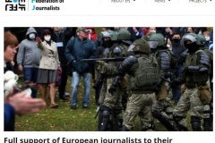 Full support of European journalists to their colleagues in Belarus