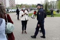 Возле Дома правосудия задержали журналистку TUT.BY Любовь Касперович, она в РУВД