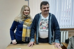 У Докшыцах затрымалі журналістаў Змітра Лупача і Алену Шабуню