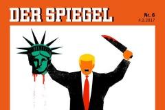 Скандал: Spiegel змясціў на вокладку Трампа з адрэзанай галавой статуі Свабоды