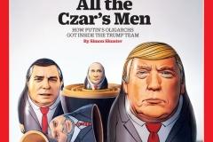Time разместил Путина и Трампа на новой обложке в образе матрёшки