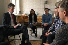 Амбасадар Францыі наведаў офіс «Белсату» і выказаў салідарнасць з журналістамі