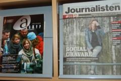 """Часопіс """"Абажур"""" побач з часопісам Шведскага саюза журналістаў """"Журналіст"""""""