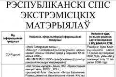 Дзяржаўная прэса друкуе абноўлены спіс экстрэмісцкіх матэрыялаў