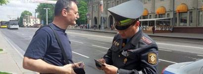 Падчас акцыі на Кастрычніцкай затрымалі журналіста Алега Грузьдзіловіча