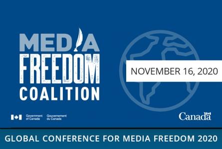 BAJ wins the first Canada-UK Media Freedom Award. Andrei Bastunets' speech